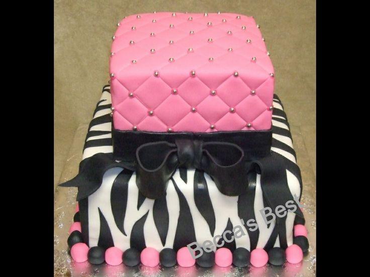 10 Photos of Square Zebra Print Cakes