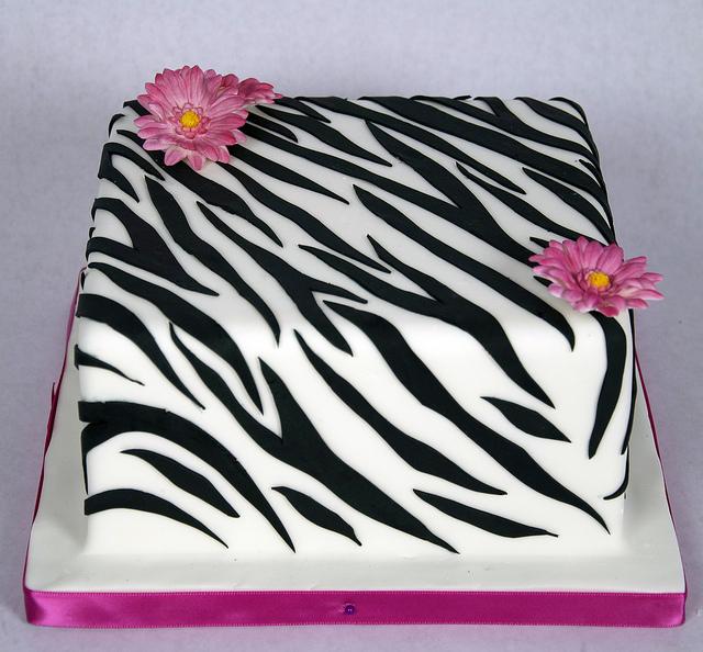 Zebra Print Cake Square