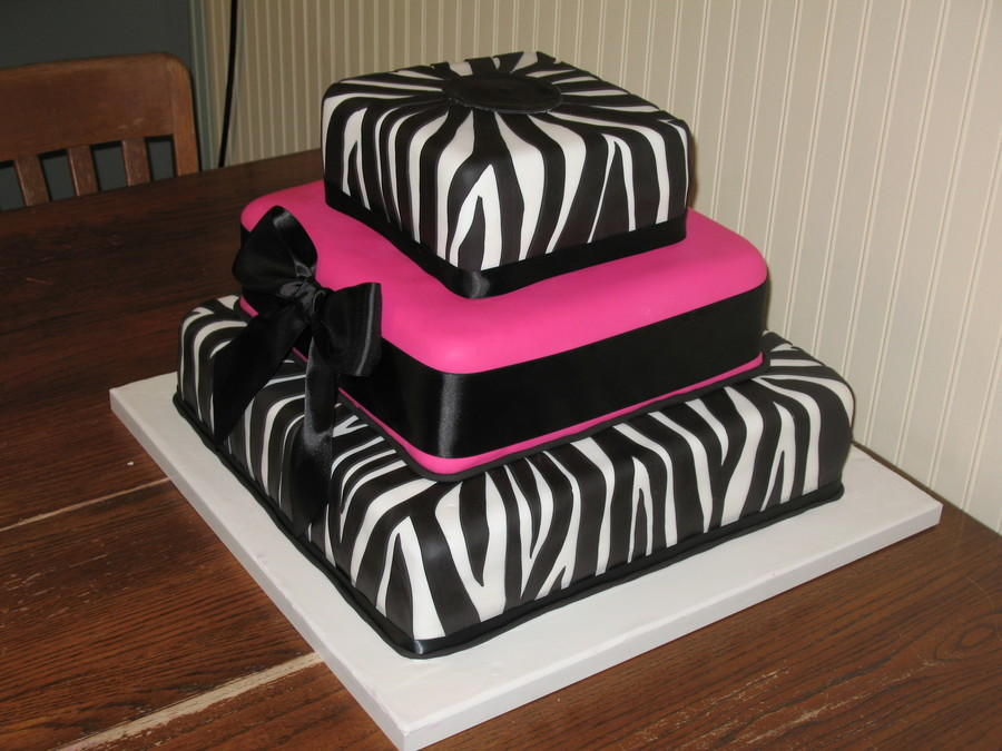 Zebra Stripes Cake