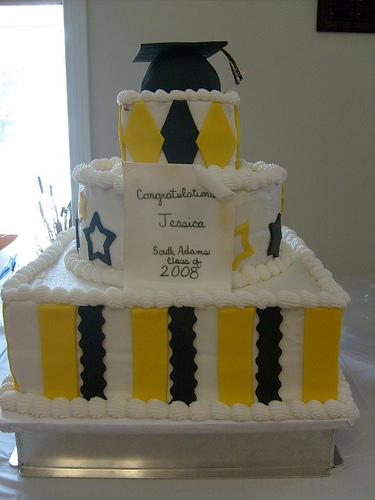 3 Tier Graduation Cakes