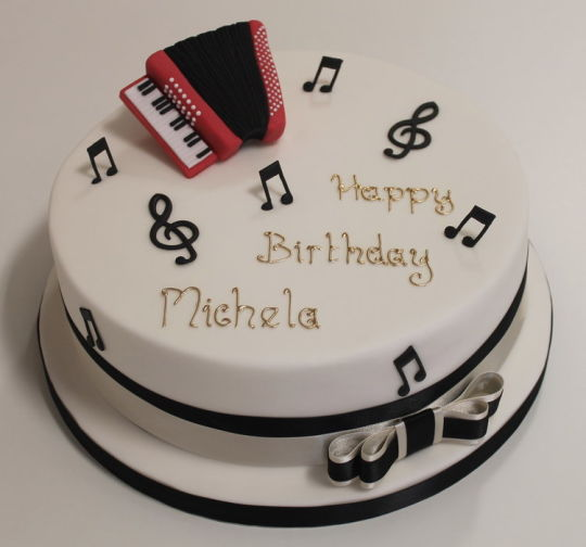 Accordion Birthday Cake