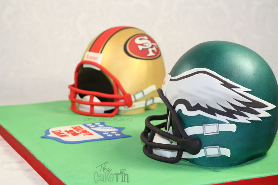 American Football Helmet Cake