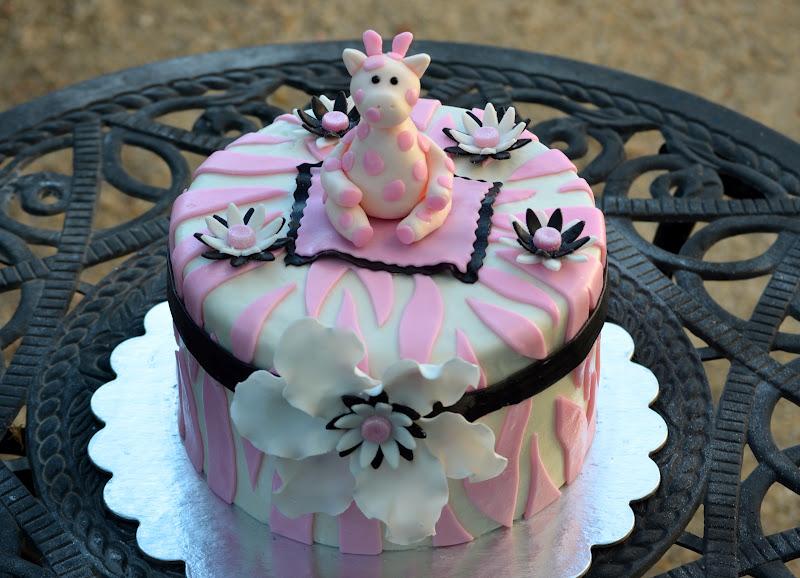 Animal Print Baby Shower Cake