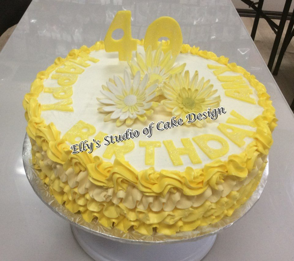 Anniversary Cakes the Color Yellow