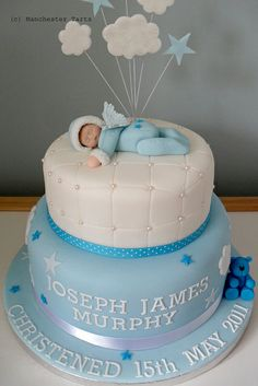 Baby Angel Christening Cake