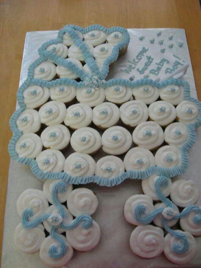 Baby Shower Carriage Cupcake Cake