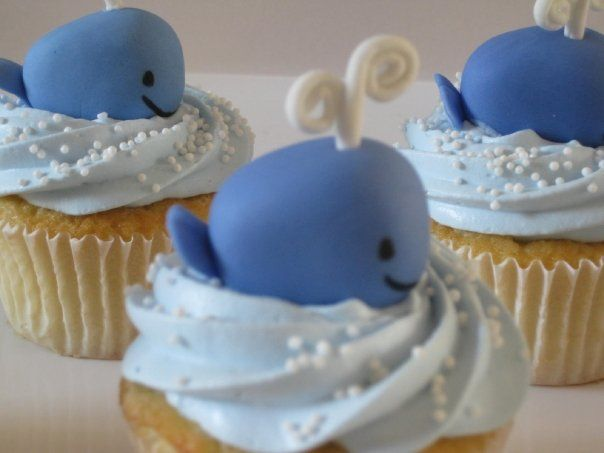 6 Photos of Whale Tale Cupcakes