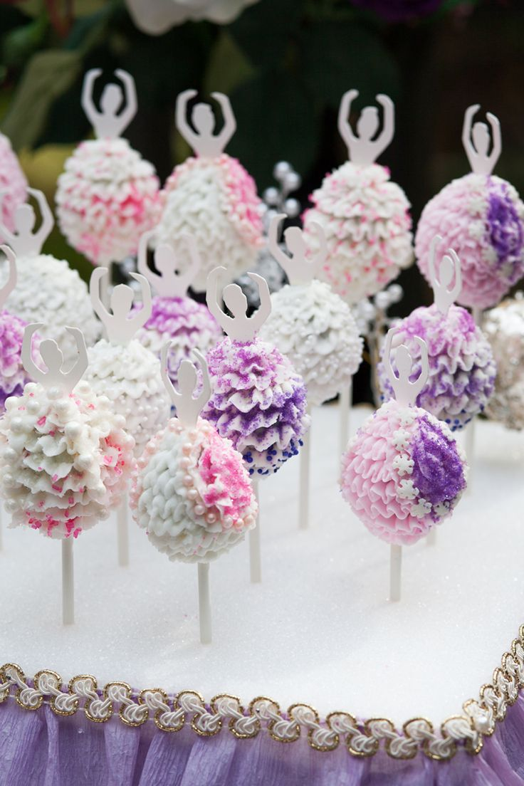 Ballerina Birthday Cake Pops