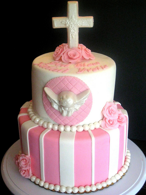 Baptism Angel Theme Cake