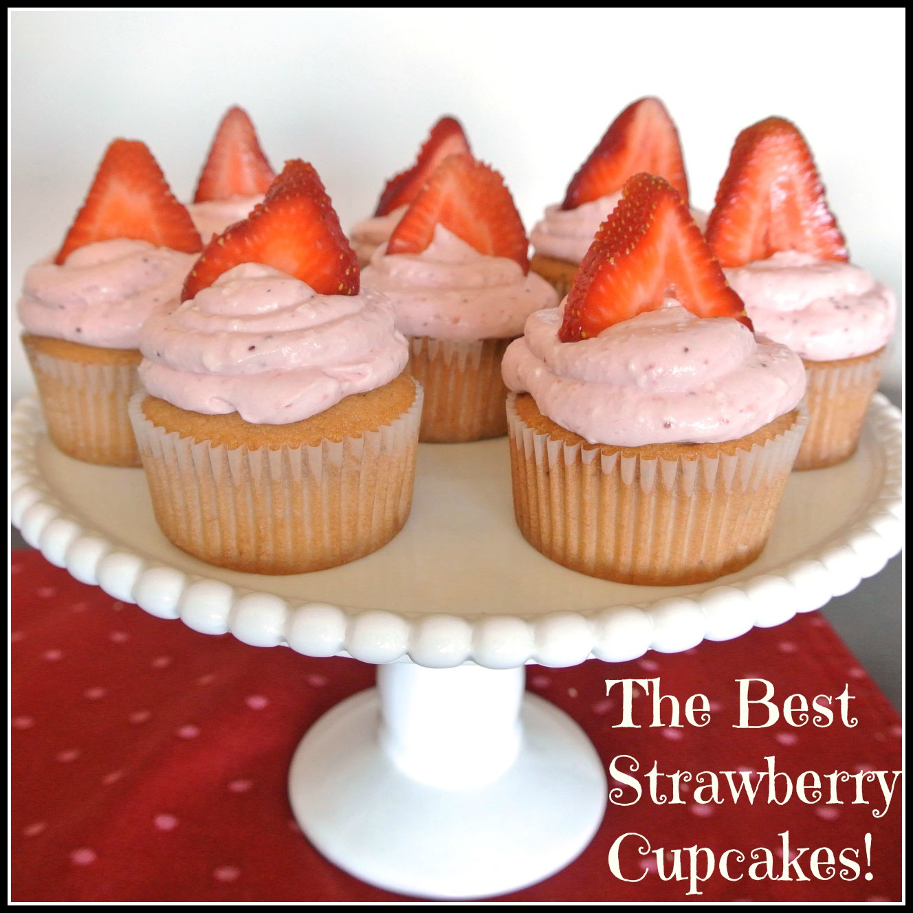Best Strawberry Cupcakes