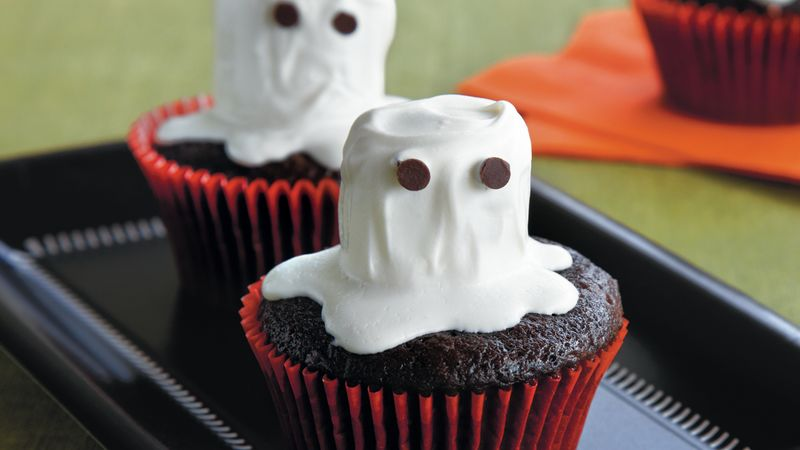 7 Photos of Halloween Ghost Cupcakes With Marshmallows