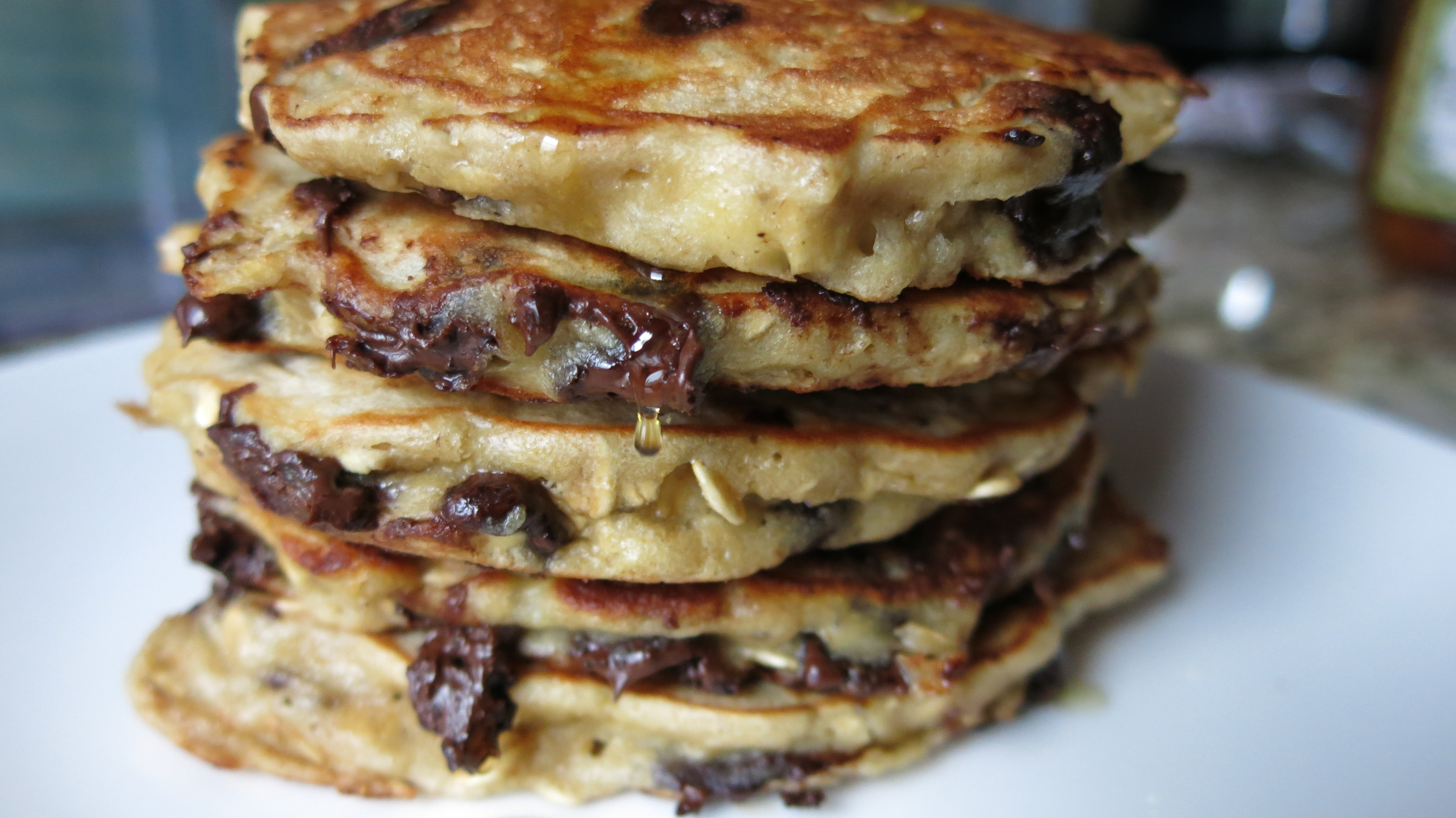 Big Chocolate Chip Pancakes