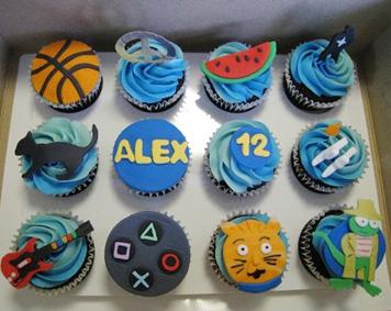 9 Photos of Fun Birthday Cupcakes For Boys