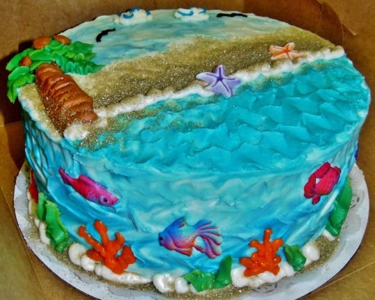 Buttercream Beach Cake