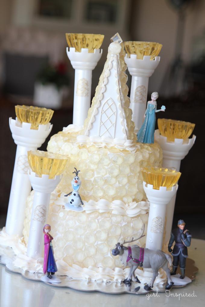 12 Photos of Ice Castle Frozen Theme Cakes