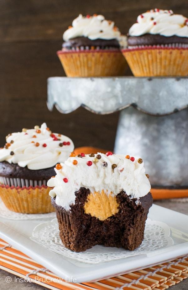 Cream Filled Chocolate Cupcakes Recipe