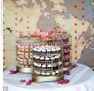 Creative Wedding Cupcake Display