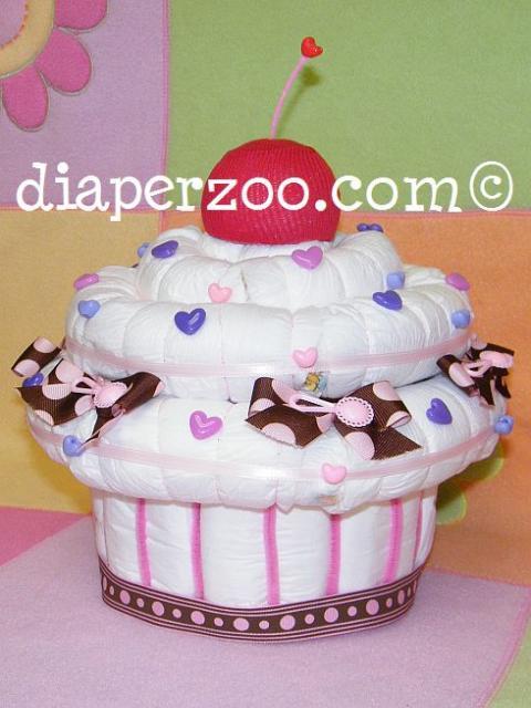 Cupcake Diaper Cake Instructions