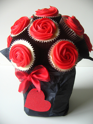Cupcake Flower Bouquet Valentine's Days