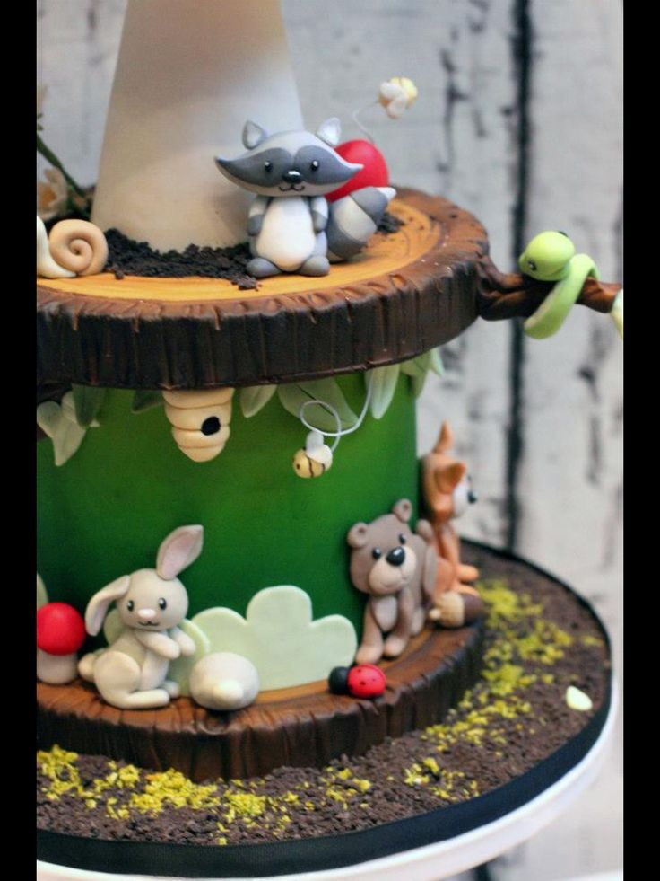 Cute Forest Animal Cake