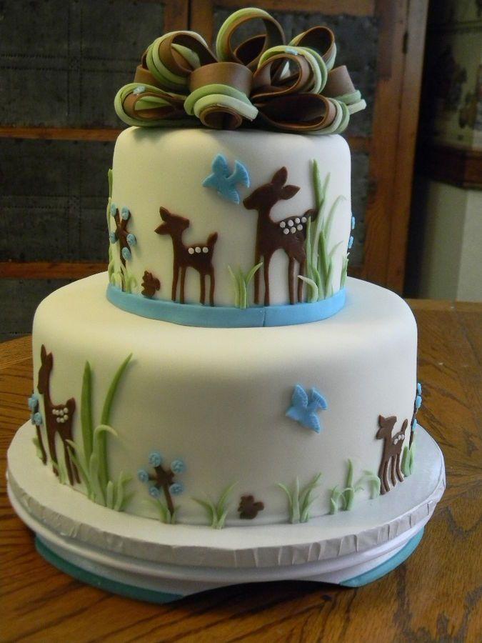 Deer Cake for Baby Shower Theme