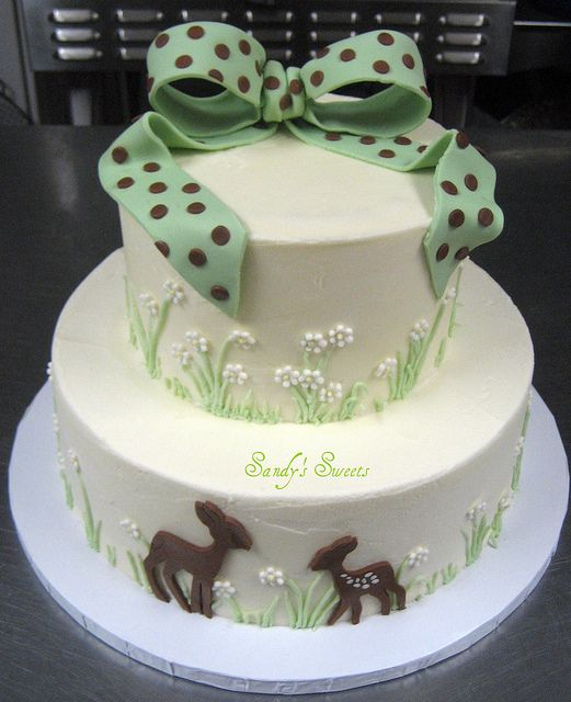 Deer Hunting Baby Shower Cake