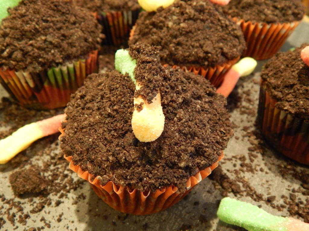 Dirt N Worms Cupcakes