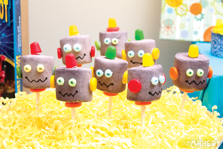 DIY Robot Birthday Cake