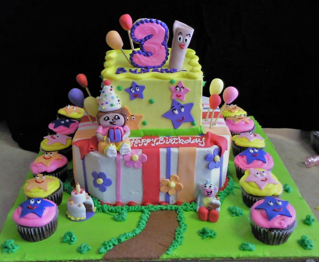 Dora the Explorer Birthday Cake Decorations