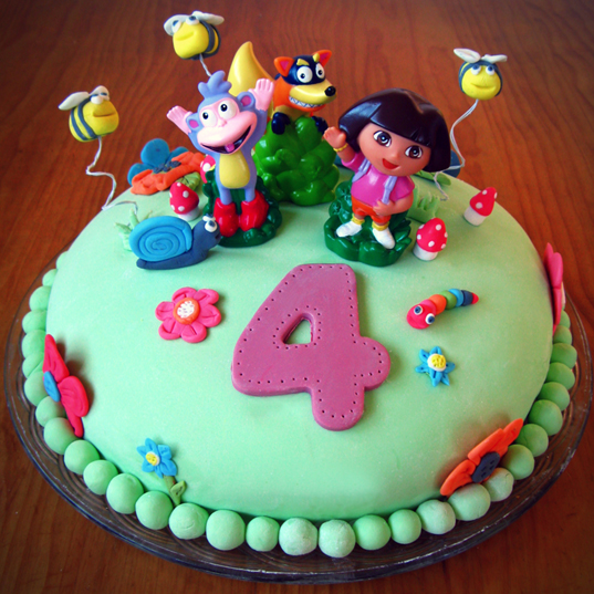 Dora the Explorer Birthday Cake Kids