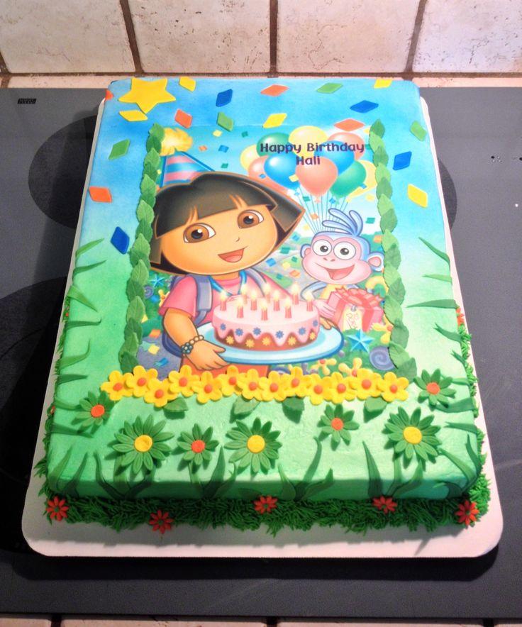 Dora the Explorer Birthday Sheet Cake