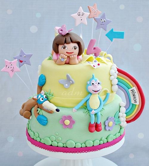 Dora the Explorer Boots Birthday Cake