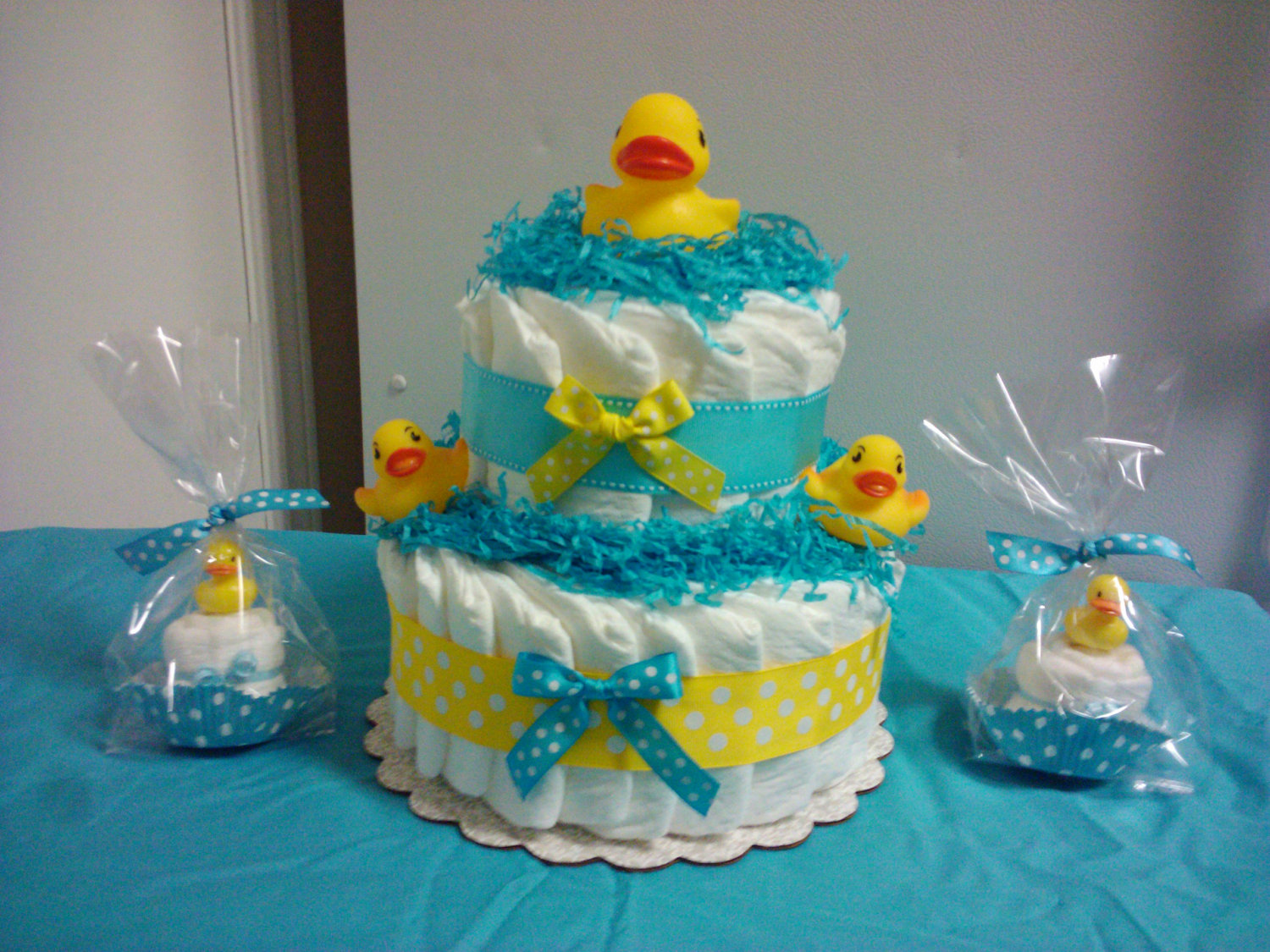 Duck Diaper Cake for Baby Shower Decorations