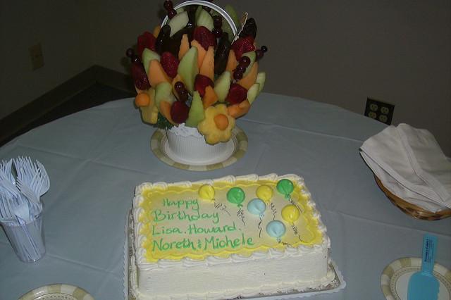 Edible Fruit Birthday Cake