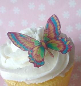 Edible Rainbow Butterfly Birthday Cake