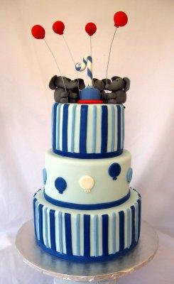 Elephant Birthday Cake Balloons