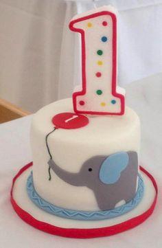 Elephant First Birthday Smash Cake