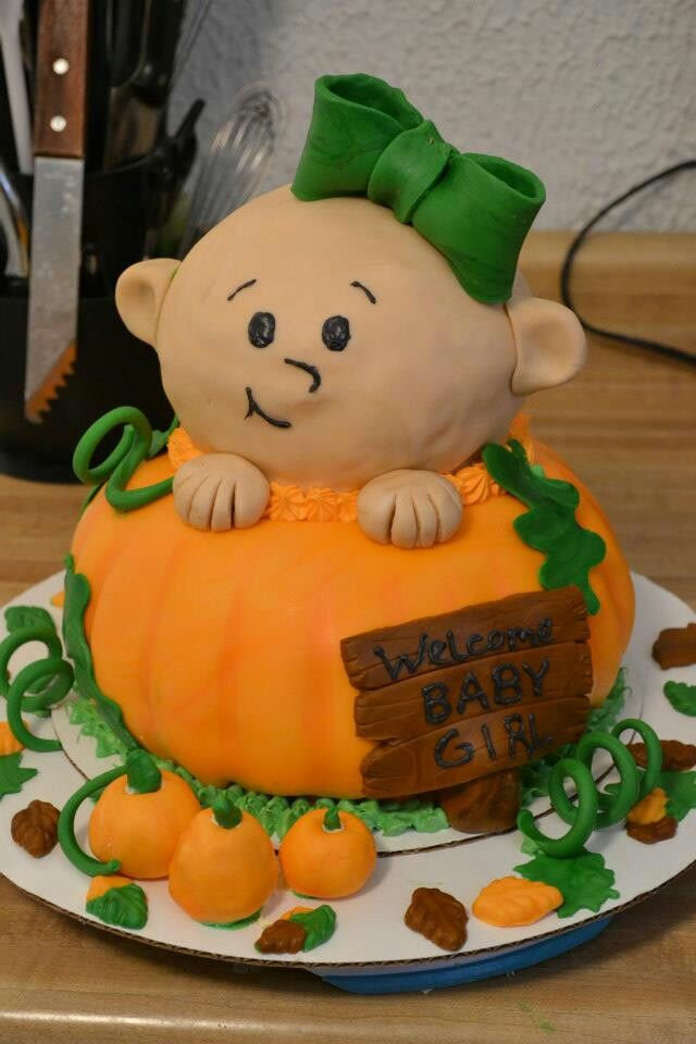 Fall Baby Shower Cake