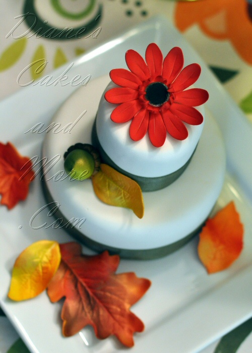 Fall Mini Wedding Cakes
