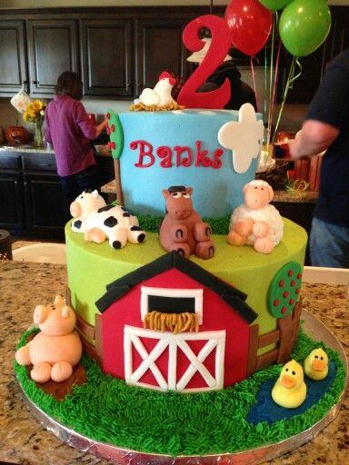 Farm Animal Birthday Cake Boy