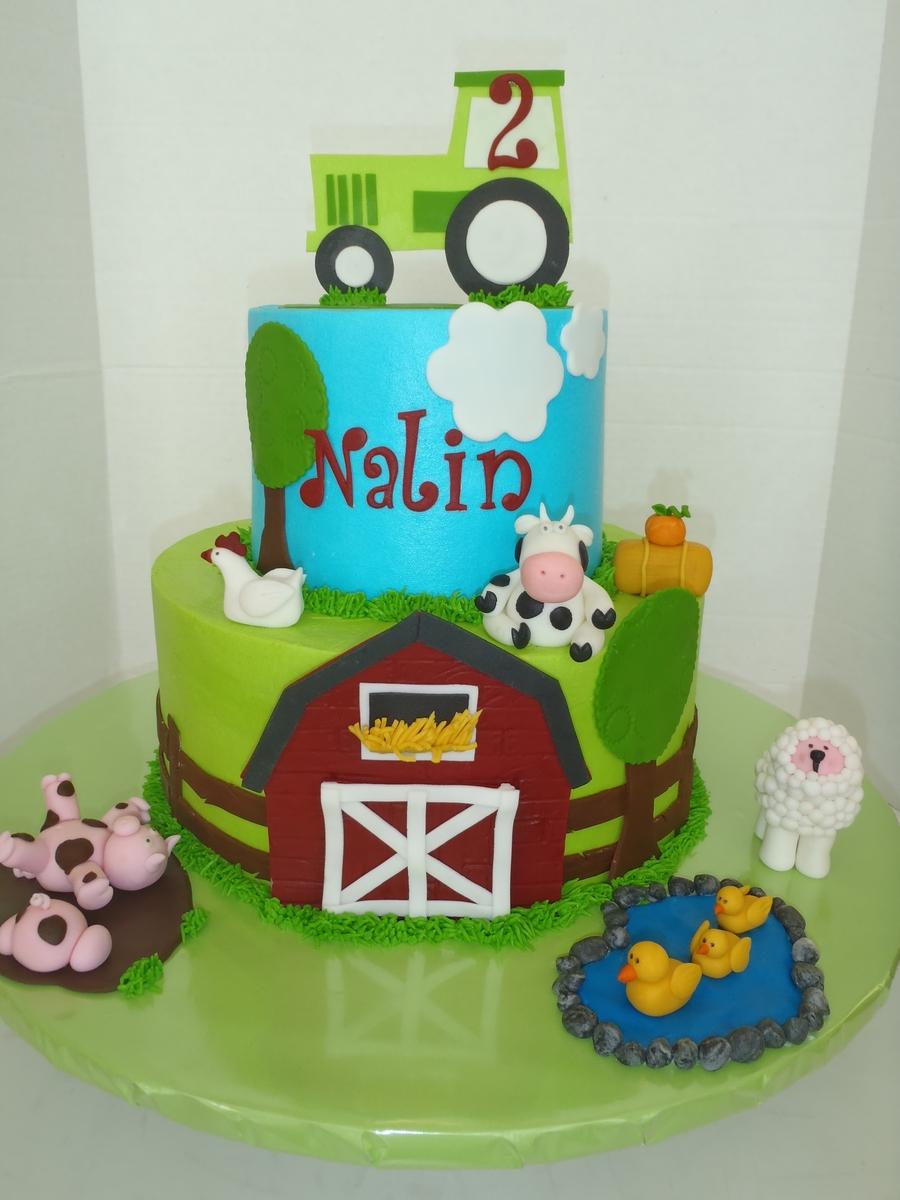 Farm Birthday Cake - Buttercream
