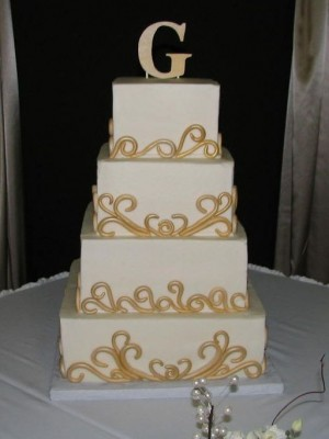 Fondant Scroll Wedding Cake