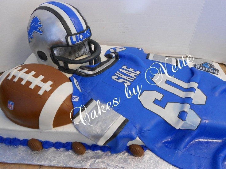 Football Helmet and Jersey Cake