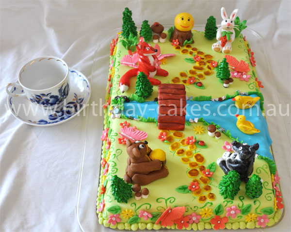 Forest Animal Birthday Cake