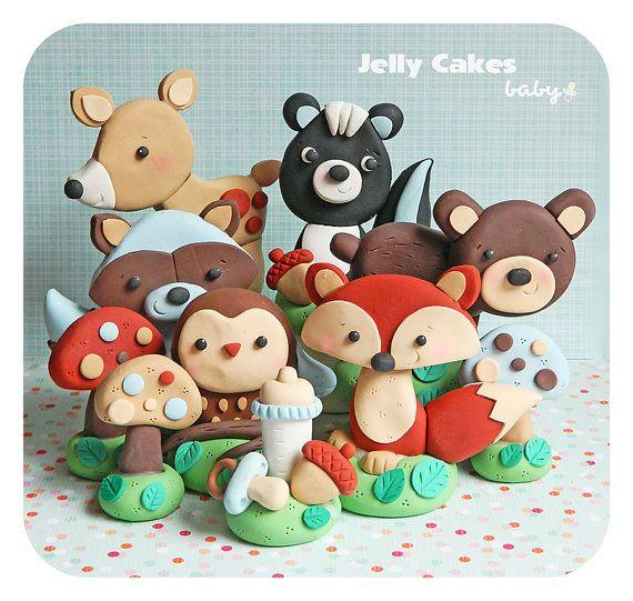 Forest Animals Baby Shower Cake