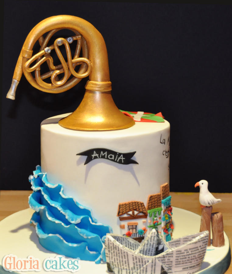 French Horn Birthday Cake