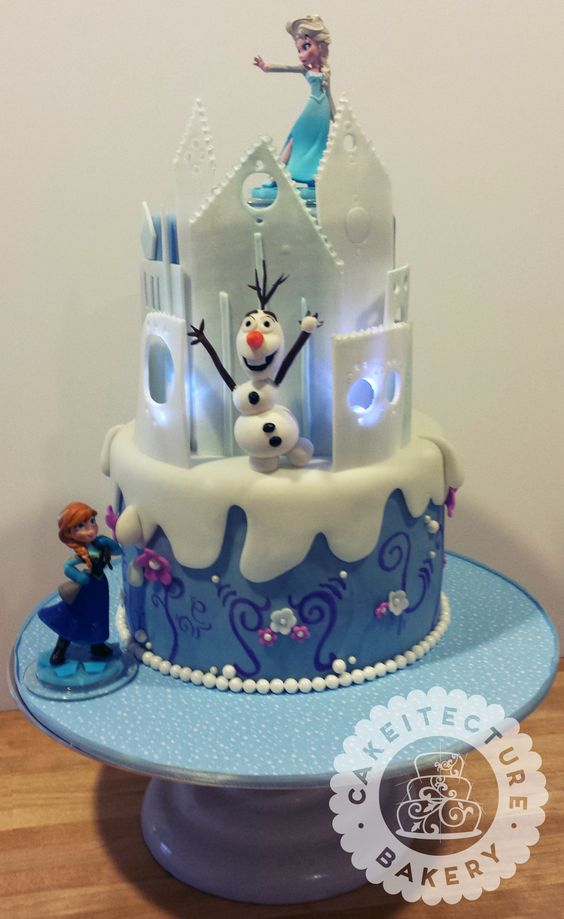 Frozen Birthday Cake for Little Girl