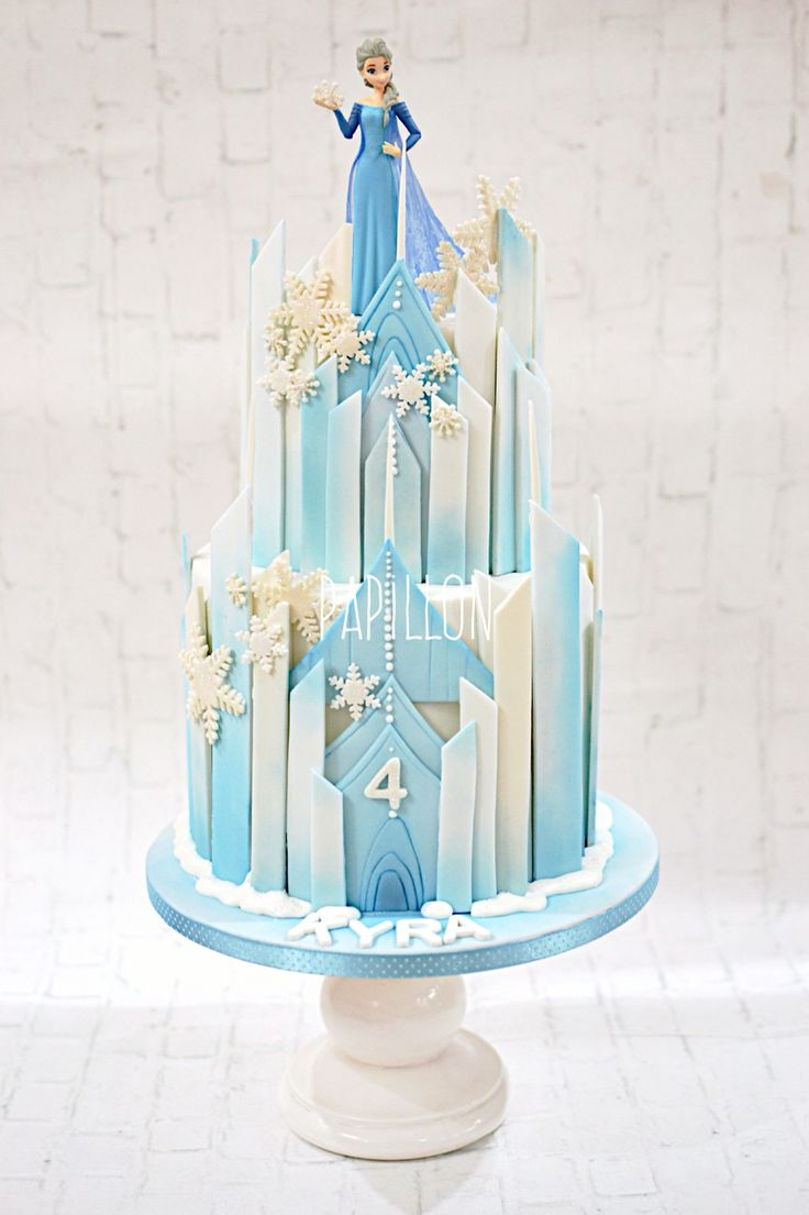 Frozen Disney Castle Birthday Cake