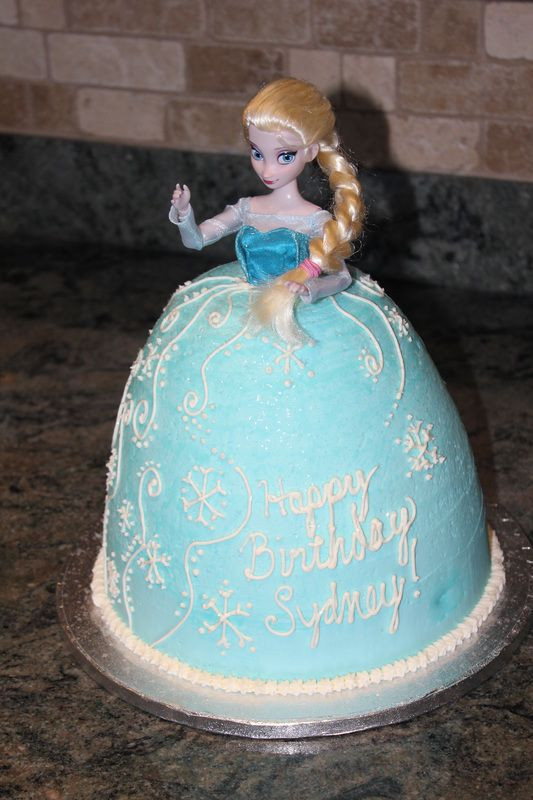 Frozen Elsa Barbie Doll Cake