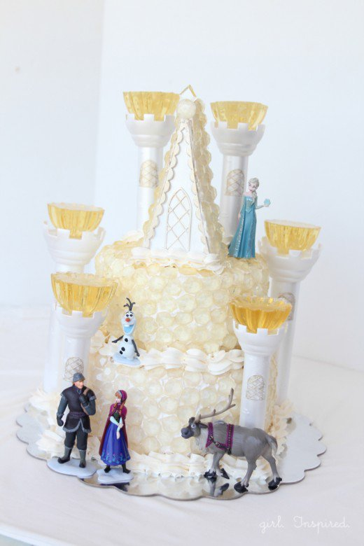 Frozen Ice Castle Birthday Cake